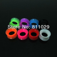 big ops - OP Hot Selling Fashion Charm mixed size mixed colors double flare big size silicone ear tunnels