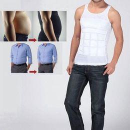 Wholesale 1pcs Men Body Slimming Tummy Shaper Vest Belly Underwear shapewear Waist Girdle Shirt