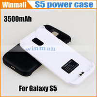 Wholesale S5A USB Dock mAh Li ion External Backup Battery Charger Cover case with Stand Power Bank For SAMSUNG