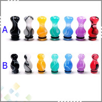 Electronic Cigarette Drip Tip  Ming 510 Drip Tips EGO Mouthpiece Vase and Gourd Style Acrylic Drip Tips Colorful fit CE4 CE5 CE6 vivi nova Atomizer E Cig