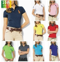 Wholesale New Fashion Women Ladies Polo Neck T Shirts Free Summer Short Sleeves Polo T Shirts Tops Colors ecc1518