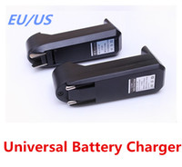 Wholesale Universal Single Slot Charger For V mA Li ion Rechargeable Battery EU US Plug Charge Adapter dhl free