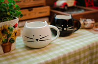 Pottery ceramics and pottery - 2014 New Arrival Seconds Kill Beer Zakka Lotion Coffee Cup Black And for Cat Animal Milk Ceramic Lovers Mug Cute Drinkware