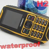 Wholesale Hummer H2 unlocked cell phones Rugged Mobile Phone MTK6572A GB Ram Dustproof shockproof Waterproof ip67 GPS