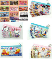 Wholesale Hot Popular frozen mix Cartoon Style Transparent creative pencil case Stationery Bags Gift