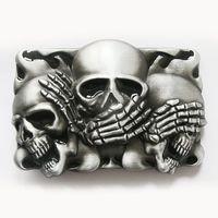 Wholesale Belt Buckle Black Flame Shy Skulls