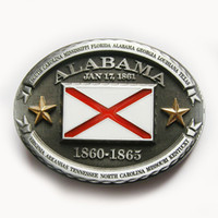 alabama state flags - Confederate State of Alabama Flag Belt Buckle