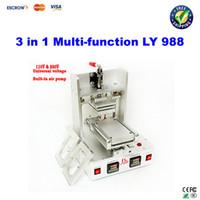Wholesale Free ship LCD separator machine Glue removing machine Iphone4 mobile brackets hot bar in OCA station