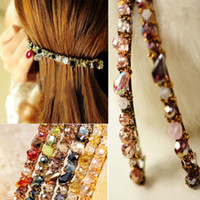 Wholesale S Women Lady Barrette Hairpin Hair Clip Korean Fashion Crystal Headdress Accessory