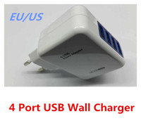 Wholesale Universal Port usb Power Adapter Home Wall Charger EU US Plug V A Travel AC Adapter For iPhone s Samsung HTC Phone Ipad