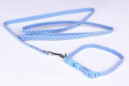 Wholesale Pets Leashes dog collars Pet Supplies Dot Printed Dog Leash Set Harness Belt Dog supplier