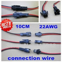 Wholesale pairs cm cm pair LED connecting wire male and female connector Terminals cable for single color