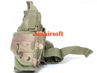Wholesale OP Tactical Vertical Belt Drop Leg Puttee Thigh Leg Pistol Gun Holster Molle with Magazine Pouch Fit Most Handgun Multicam MC
