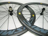 Wholesale 700C Carbon Mavic wheelset mm Clincher or Tubular Full carbon fiber road bike wheels Mavic Cosmic Carbone SL with Powerway R13 Hubs