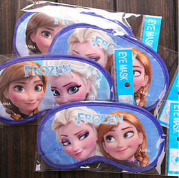 Wholesale Frozen Cartoon Eyeshade Sleep Masks Travel Rest Eye Vision Care Cover Children Nap Blindfold Promotion Gift SK042