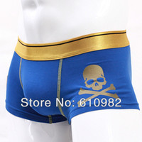 Wholesale OP New Fashion Sexy Mens Gold Belt Underwear Cotton underwear Best Quality Brand Boxer Shorts Color Retail
