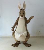 EN71 Deluxe EVA Adulte Tête kangourou costume de mascotte costume de mascotte Roo mêmes que décrit à vendre
