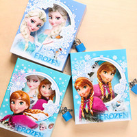Wholesale Frozen Cartoon Note Book Hard Cover Stationery Diary Book with MINI Lock School Supplies Fashion Paper Product SK037