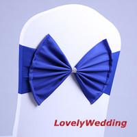 wedding chair sashes - ROYAL BLUE elastic chair band for wedding decoration spandex sash for cover chair lycra chair band