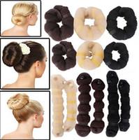 Wholesale 12Pcs Hot Buns Set Large Small Hair Elegant Magic Style Bun Maker Colors JH03023