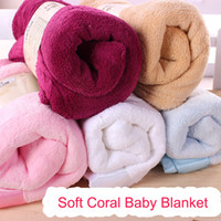Wholesale 2015 Autumn Winter Baby Soft Comfortable Coral Blankets Baby BathTowel Baby Air Conditioning Quilt Baby Blankets