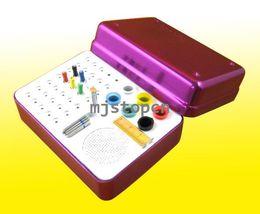 Wholesale 35 Holes Dental Bur Holder Autoclave Sterilizer Case For Endo Files Gutta Percha Points Purple