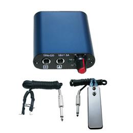 Wholesale Blue Mini Tattoo Power Supply Mini Foot Petal Clip cord For Tattoo Gun Needle Ink Cups Grips Kits