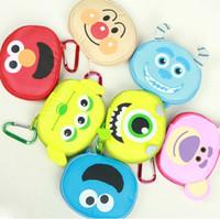 Wholesale Cartoon Animal Foldable Shopping Bags MINI Color Storage Bags Eco Friendly Portable Hand Bag Children Favors SK045