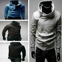Wholesale New high quality brushed Fleece Coat Sweater Men hoodies clothing style sweatshirt