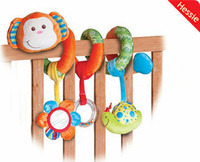 Cheap Wholesale-OP-Hessie Brand Baby Toys New Kawaii Monkey Design 1Pcs Lot Multifunctional Baby Rattle Toy Baby Mobile Bed Bell Free Shipping