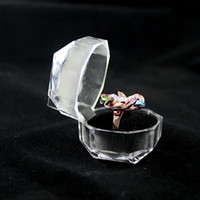 Wholesale Jewelry Box New Fashion Design Colorful Luxury Clear Plastic Jewelry Gifts Wedding Rings Packaging For Women