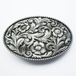 Men Belt Buckle New Vintage Western Cowboy Cowgirl Flower Oval Belt Buckle Gurtelschnalle Boucle de ceinture BUCKLE-WT097AS