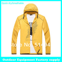 Cheap Wholesale-OP-Dropshipping new Men Women Sports Camping Fishing Thin Quick Dry Jackets Light weight Waterproof Breathable summer windbreaker