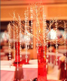 Wholesale 33feet mm crystal prism bead chain wedding garland christmas tree crystal hung strands strung display wa066