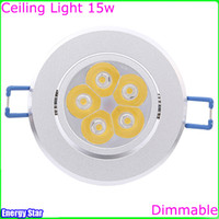 Wholesale 15w Led Ceiling Light AC85 V V V Cool White Warm White Dimmable Non dimmable Ceiling Lamp LED Downlights Clothing Store Light