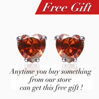 Wholesale Red color new fashion Stud Earrings for women Anytime you can get it for free but must made an order in my store ECEA0017
