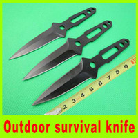 bbq gift sets - 2014 New set throwing knife diving knife Tied hand knife bbq utility outdoor survival camping hiking knives christmas gift L