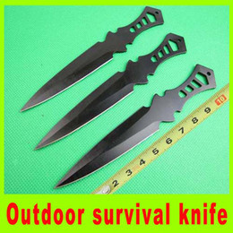 Wholesale Outdoor gear survival knife set throwing knife diving knife Tied hand knife bbq utility hiking knives christmas gift high quality L