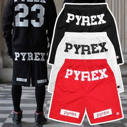 Wholesale Best Version Pyrex Vision gym Shorts Kayne West hip pop Style Fashion Mid Loose Drawstring Shorts men moletom