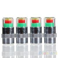 Wholesale 4PCS Car Auto Tire Pressure Monitor Valve Stem Caps Sensor Indicator Eye Alert Diagnostic Tools Kit