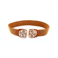 Wholesale New Fashion Design Vintage Flower Elastic Dress Belts For Women