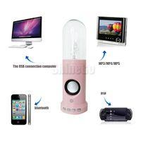 Wholesale 2014 Electrostatic Bluetooth HiFi Speaker Magic Flash Lightning Skull CrossBone Support Handfree TF Card For iphone Samsung Tablet PC