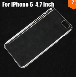 For iphone 5se 6s plus Thin Transparent hard DIY Crystal Clear Case Cover for iPhone 6 5S 5C