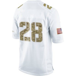 Wholesale Salute to Service Game White American Jersey Football Jerseys Mix order