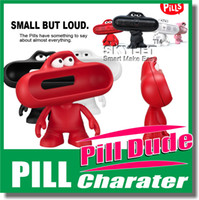Wholesale Pill Stand Beats Bluetooth Wireless Speaker Stand Case Big Mouth Dude Doll Stand Character Case Holder Super A Quality Retail Box Free Ship