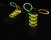 Cheap LED Flashing Shoe Lace Fiber Optic Shoelace Luminous Shoe Laces Light Up Shoes lace shinning fluorescent Night light