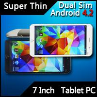 Wholesale Thinnest Tablet PC Inch Android Tablet PC Dual Sim Four Band MTK6572 Dual Core GHZ GB M Memory GPS Free Flip Cover
