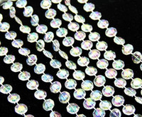 Wholesale 30M roll mm acrylic disk beaded Iridescent crystal garland strands for wedding decoration chandelier wa081
