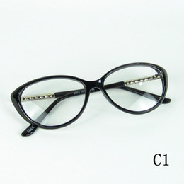 Designer Cateye Eyeglasses Frame Fashion Optical Frame Metal Stick Wick On Temples Good Leve 4 Colors In One Lot