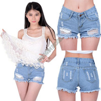 Cheap 2014 New Arrival Women High waist shorts jeans feminino Ripped Hole short jeans denim female shorts #011 SV000538